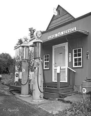 Photograph - Texaco Super Service by Cheri Randolph