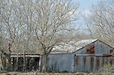 Photograph - Texas Barn 9 by Teresa Blanton