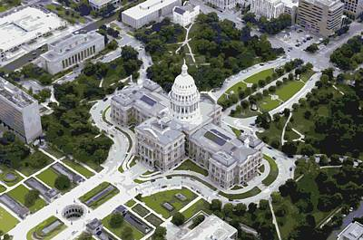 Capitol Building Digital Art - Texas Capitol Color 16 by Scott Kelley