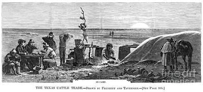 Texas Cattle Trade, 1874 Art Print by Granger