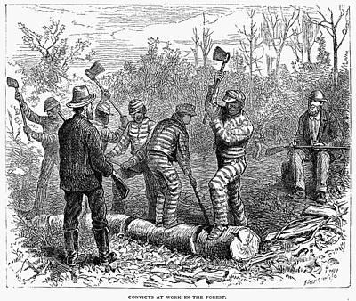 Texas: Chain Gang, 1874 Art Print