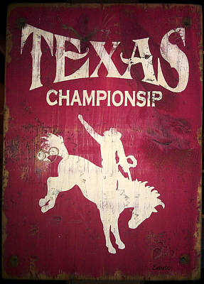 Photograph - Texas Championsip by Eena Bo