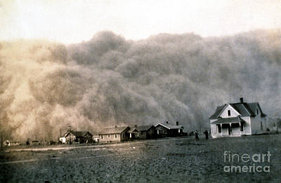 Stratford Photograph - Texas Dust Storm, 1935 by Science Source