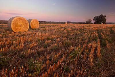 Texas Hay Field 3 Original by Paul Huchton