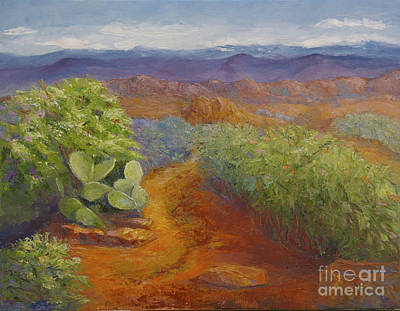 Painting - Texas Hike by Diana Cox