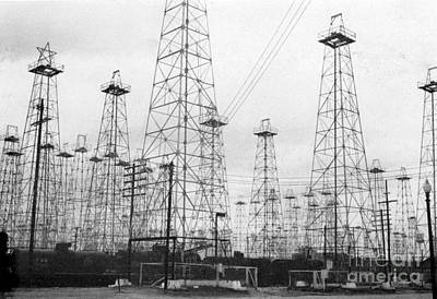 Photograph - Oil Wells, 1943 by Granger