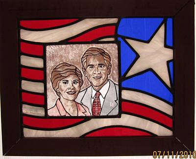 Texas Predident George Bush Original by Gladys Espenson