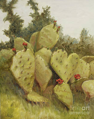 Painting - Texas Prickly Pear by Diana Cox
