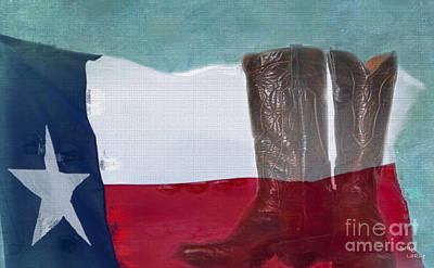 Western Art Digital Art - Texas Pride by Betty LaRue