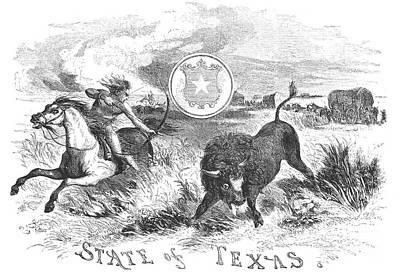 Texas Scene, 1855 Art Print by Granger
