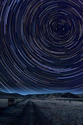 Texas Star Trails Print by Larry Landolfi