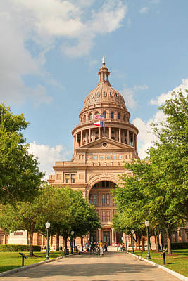 Goddess Of Liberty Photograph - Texas State Capitol Building In Austin  II by Sarah Broadmeadow-Thomas