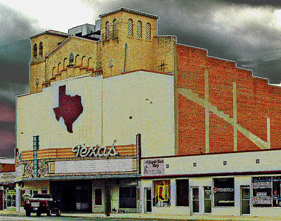 West Texas Photograph - Texas Theater II by Louis Nugent