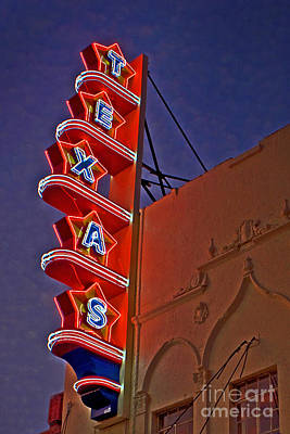 Texas Theater Restored Art Print by Gib Martinez