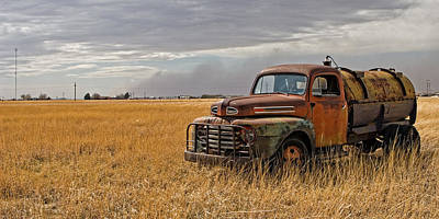 Old Trucks Photograph - Texas Truck Ws by Peter Tellone