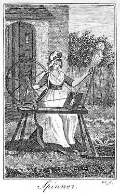 Textile Manufacture Art Print by Granger