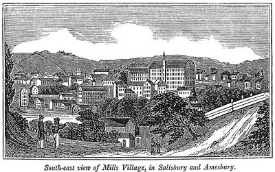 Textile Mills, 1844 Print by Granger