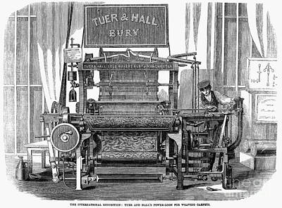Tuer Photograph - Textiles: Power Loom, 1862 by Granger