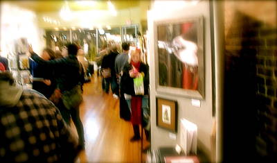 First Friday Photograph - Texting by Terry Zeyen
