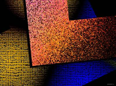 Textured Abstract Geometry Art Print by Mario Perez