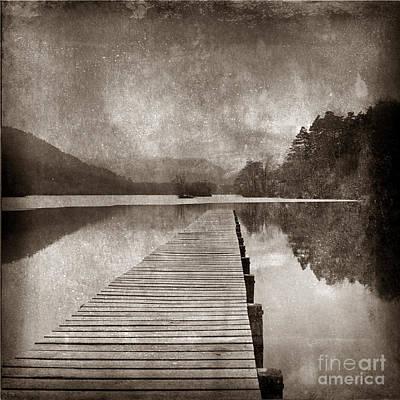 Textured Lake Art Print by Bernard Jaubert