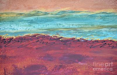 Textured Landscape 2 Art Print by Barbara Tibbets