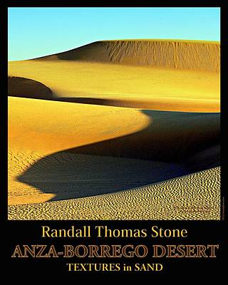 Photograph - Textures In Sand - Melting Mesa by Randall Thomas Stone