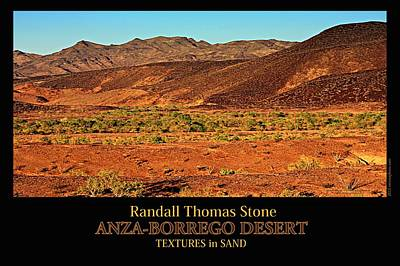 Photograph - Textures In Sand - Shades Of Red by Randall Thomas Stone