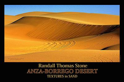 Photograph - Textures In Sand - Shifting Sands by Randall Thomas Stone