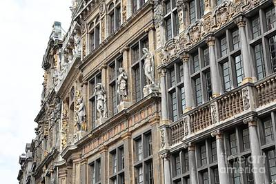 The Grand Place Photograph - Textures Of Brussels by Carol Groenen