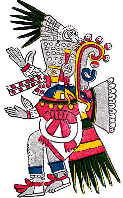 Tezcatlipoca, Aztec God Of Night, Codex Art Print