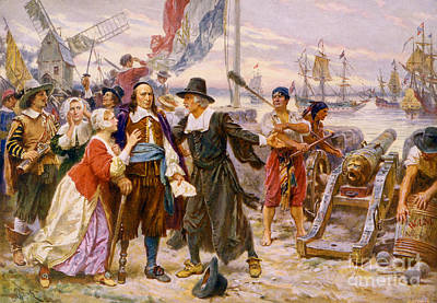 Famous Residents Photograph - Th Fall Of New Amsterdam, 1664 by Photo Researchers