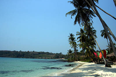 Photograph - Thai Beach With Colored Flags by Jennifer Bright