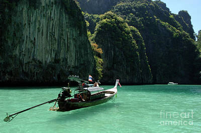 Photograph - Thai Long Tail Boat  by Bob Christopher