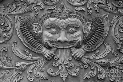 Thailand History Statue On The Temple Wall. Original by Weerayut Kongsombut