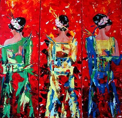 Karin Mueller Painting - Thaiperlen by Karin Mueller