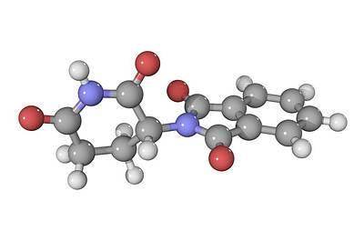 Thalidomide Drug Molecule Art Print by Laguna Design