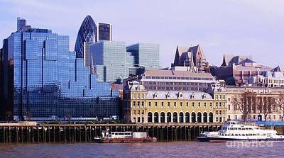 Hms Photograph - Thames And Financial District - London by John Clark
