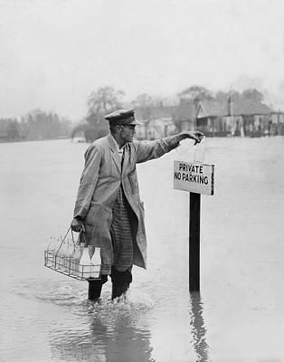 Thames Floods Art Print by Fox Photos