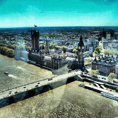 Eye Photograph - Thames River, View From London Eye | by Abdelrahman Alawwad