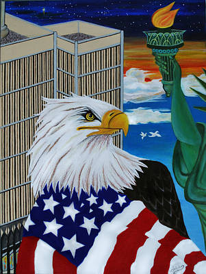 World Trade Center Painting - Thank A Soldier by Adele Moscaritolo