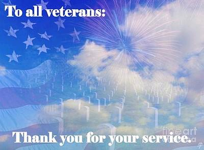 Thank A Vet Art Print by Laurence Oliver