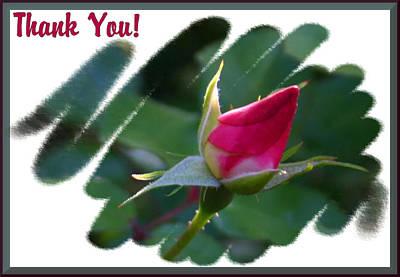 Ballerina Art - Thank You Bud by Kristin Elmquist