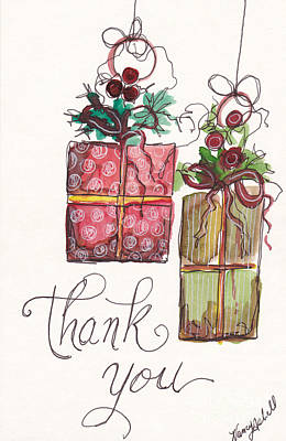 Thank You Ornaments Original by Michele Hollister - for Nancy Asbell