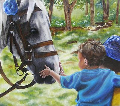 Boy Painting - Thank You's by Lori Brackett