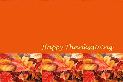 Thanksgiving Card Art Print by Irina Sztukowski