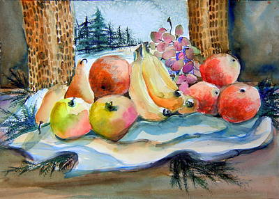Pear Tree Mixed Media - Thanksgiving Hopes by Mindy Newman
