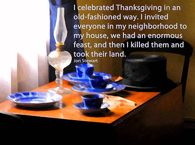 Jon Stewart Photograph - Thanksgiving Murders by Ian  MacDonald