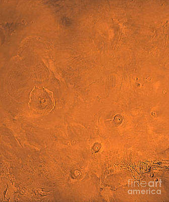 Tharsis Photograph - Tharsis Region Of Mars by Stocktrek Images