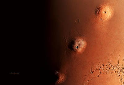 Tharsis Photograph - Tharsis Volcanoes, Mars by Detlev Van Ravenswaay